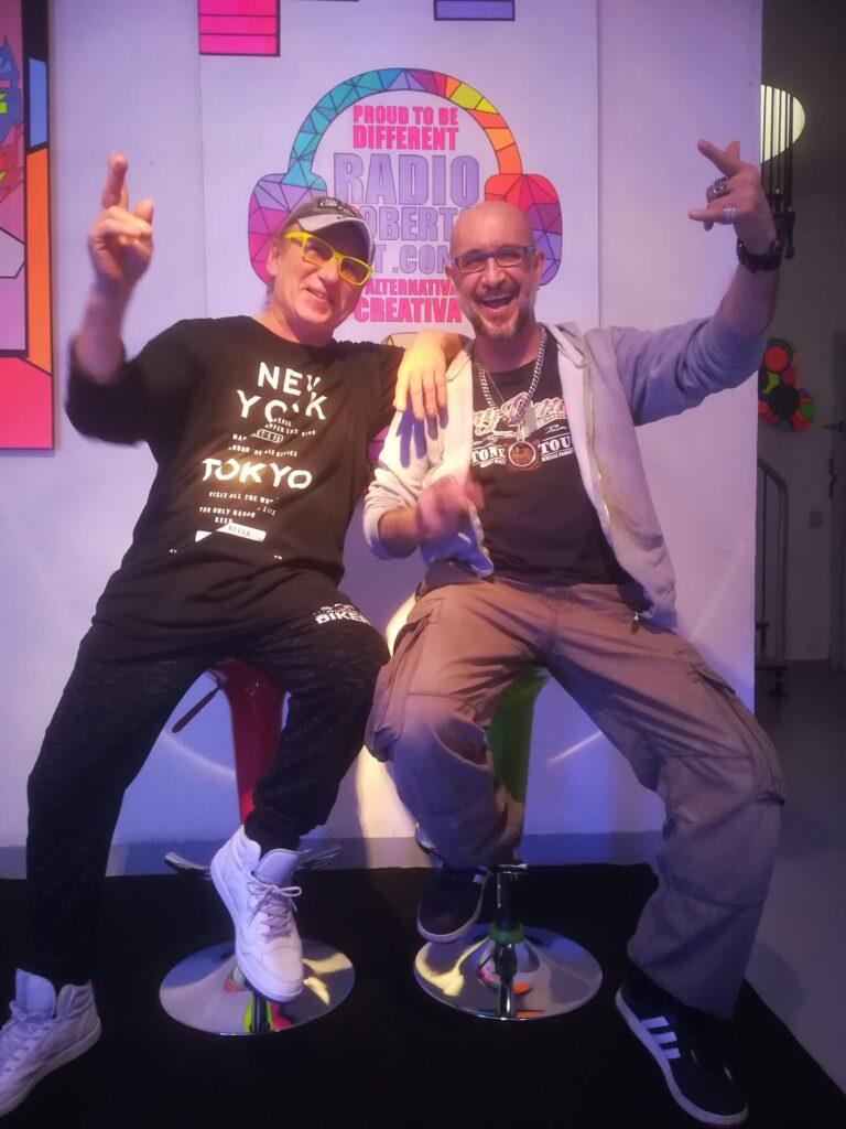 Alfonso Villa di GET FLUO e Roberto Bocchetti di RADIO ROBERTO