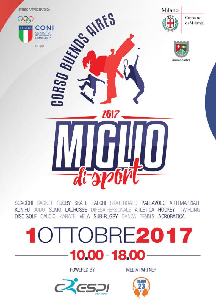 Miglio di Sport 2017, Domenica 1 Ottobre 2017 a Milano in Corso Buenos Aires